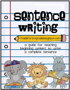 Teaching students how to write complete sentences Punctuation Activities, Writing Activities, Classroom Activities, Classroom Ideas, Writing Resources, Writing Skills, 1st Grade Writing, Kindergarten Writing, Teaching Writing
