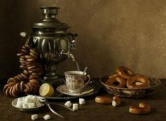 Tea and Baranki – Russian Biscuit they taste like a slightly sweet pretzel without the large grain salt