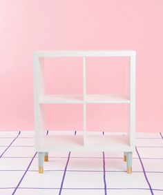 See how @refinery29 transforms KALLAX bookcase into a DIY bedside storage table!