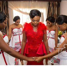 Latest South Africa Shweshwe Dresses Fashion In 2020 African Fashion Skirts, South African Fashion, African Fashion Designers, South African Traditional Dresses, Shweshwe Dresses, Short Gowns, Diy Fashion, Xhosa, African Prints