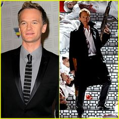 Neil Patrick Harris shoots down some men while hosting the Spike TV's 2010 Video Game Awards.