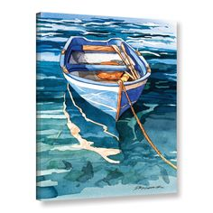Shop for ArtWall Bill Drysdale ' Sage Vernazza Reflection ' Gallery-Wrapped Canvas. Get free delivery On EVERYTHING* Overstock - Your Online Art Gallery Store! Get in rewards with Club O! Boat Painting, Painting & Drawing, Watercolor Paintings, Watercolors, Abstract Paintings, Oil Paintings, Nautical Painting, Drawing Step, Amazing Paintings