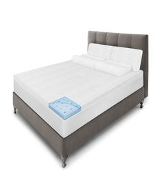 """Get the relaxation you've always dreamed of with SensorPedic bedding. Find the 2"""" Majestic Gel-Infused mattress topper with iCOOL technology for breathability."""