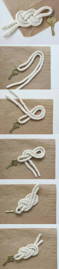 michael ann made.: sailor knot keychain diy This. Fun Crafts, Diy And Crafts, Arts And Crafts, Diy Simple, Easy Diy, Keychain Diy, Keychain Ideas, Ideias Diy, Crafty Craft