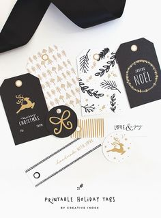 Free Printable Holiday Gift Tags (in 3 color options) by Creative Index