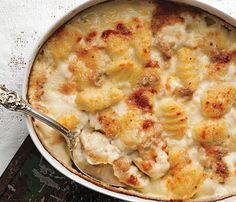 Find the recipe for Gnocchi Gratin with Gorgonzola Dolce and other blue cheese recipes at Epicurious.com