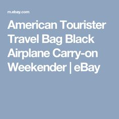 American Tourister Travel Bag Black Airplane Carry-on Weekender    eBay
