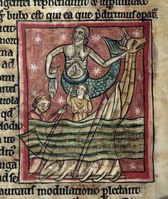 Сирена (Рукопись Британской библиотеки MS Harley 4751, fol. 47v)