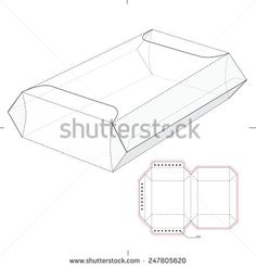 Fast Food Tray Sleeve with Die Line Template | negocios | Pinterest ...