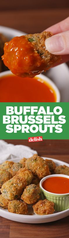 Even vegetable haters will love Buffalo Brussels Sprouts. Get the recipe on Delish.com.