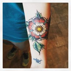 Tudor rose tattoo