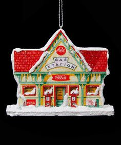 Love this Coca-Cola Gas Station Ornament on #zulily! #zulilyfinds