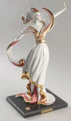 Vittorio Sabadin Vittorio Sabadin Capodimonte Figurines Art Deco Woman-Red And Gold - Boxed