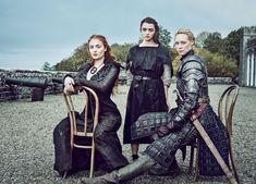 """Game of Thrones S6 Cast: Sophie Turner """"Sansa,"""" Maisie Williams """"Arya,"""" Gwendoline Christie """"Brienne"""""""