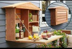 outdoor drinks cabinet.. i'll attempt to persuade stefan to help me make one!
