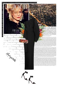 """what would diane wear?"" by eve-angermayer ❤ liked on Polyvore featuring WALL, FRUIT, Solace, Alexander McQueen and Oscar Tiye"