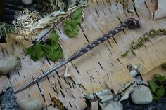 Magic wand made under the fire of the forge and hammered by