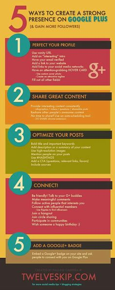 Google Plus marketing tips - how to establish a great presence on Google Plus for bloggers and companies.