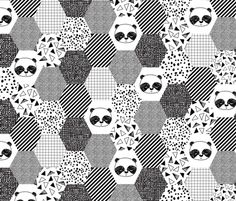 ©  Copyright  Andrea Lauren // panda quilt collection  Contact me for scale and color change requests: andrealaurendesign@gmail.com andrealaurendesign.com  // society6  //  insta