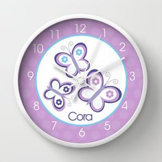 Hey, I found this really awesome Etsy listing at https://www.etsy.com/listing/159008848/purple-butterfly-girls-nursery-room-10