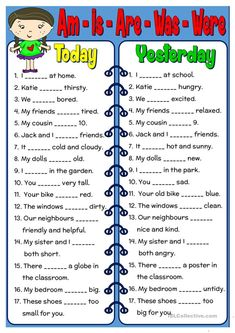 Am - Is - Are - Was - Were worksheet - Free ESL printable worksheets made by tea. Am - Is - Are - Was - Were worksheet - Free ESL printable worksheets made by teachers worksheet English Grammar For Kids, Teaching English Grammar, English Lessons For Kids, English Worksheets For Kids, English Verbs, English Activities, Grammar Lessons, English Language Learning, English Writing