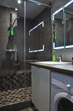 Douches de petite salle de bains sur pinterest douches for Petite salle de bain avec douche a l italienne