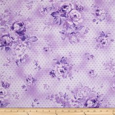Zoey Christine Morning Dew Violet from @fabricdotcom  Designed by Eleanor Burns for Benartex, this cotton print fabric is perfect for quilting, apparel and home decor accents. Colors include shades of lilac and lavender.