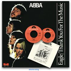 """On the 20th May 1978 Abba's single """"Eagle"""" / """"Thank You For The Music"""" entered the charts in the Netherlands where it reached number 4... #Abba #Agnetha #Frida #Vinyl http://abbafansblog.blogspot.ca/2017/05/20th-may-1978.html"""