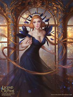 Black Friday Goddess - Legend of the Cryptids card, Viktoria Gavrilenko on ArtStation at https://www.artstation.com/artwork/ZYKVw