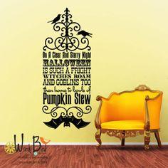 Vinyl Wall Decal Sticker Art - Witches Roam - Halloween Wall Mural