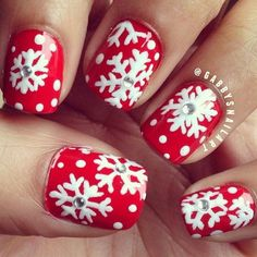 3D Snowflakes, 3D nail art is a technique for decorating nails that creates three dimensional designs. http://hative.com/cool-3d-nail-art/