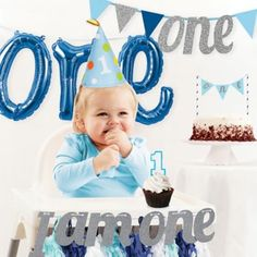 Celebrate your baby boy's special day with the Creative Converting Girl Birthday Party Décor Kit. The collection of decorations, including a birthday candle, birthday hat, banners, and more will put a smile on his face. 1st Birthday Party Supplies, Baby Boy 1st Birthday Party, 1st Birthday Party Decorations, Birthday Party Favors, 1st Birthday Party Ideas For Boys, Winter Birthday, Birthday Photos, Birthday Fun, Birthday Wishes