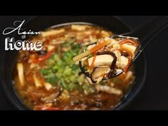 Hot & sour soup is so flavorful, so many fun textures and it was such a heart warming bowl of soup. Once again, home cooked meal won. Asian Recipes, Great Recipes, Soup Recipes, Seonkyoung Longest, Hot And Sour Soup, Asian Soup, Sour Taste, Bowl Of Soup, Asian Cooking