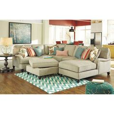 4PC with RAF Chaise Sectional