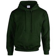 Gildan Heavy Blend Erwachsenen Kapuzen-Sweatshirt 18500 Forest Green, L - http://besteckkaufen.com/unbekannt/l-gildan-unisex-kapuzen-sweatshirt-heavy-blend-27