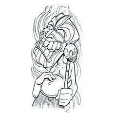 Tribal Medicine Man tattoo   tiki medicine man tribal tattoo design, art, flash, pictures, images ...