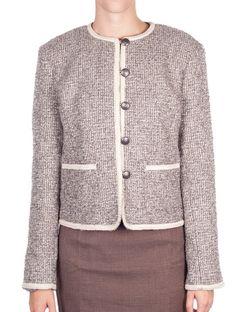 Cream Tara Chanel Tweed Jacket - POLO LADIES