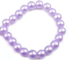 These purple round glass beads are perfect for the easter that is coming up! Create your own easter bracelet or necklace! #Diy #beads Check them out in many more colors right here: http://www.snowfall-beads.com/beads/new-items-24-02-2014/sig/3589
