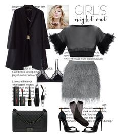 """""""Who runs the world?"""" by evafashiontrouble ❤ liked on Polyvore featuring Rochas, Raey, Christian Louboutin, Yves Saint Laurent, Lancôme, Chanel and LoveStories"""