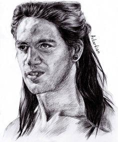 #astartian #art #portrait #traditional #pencil #Spartacus #Nazir