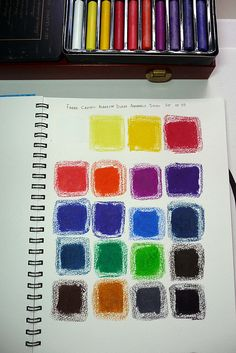 Faber Castell Albrecht Durer Aquarelle Sticks Set of 20 dry color chart by betolung, via Flickr