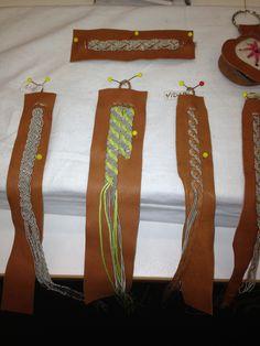 Flätor Leather Jewelry, Leather Craft, Wire Jewelry, Jewelry Art, Beaded Jewelry, Viking Clothing, Lappland, Passementerie, Diy Schmuck