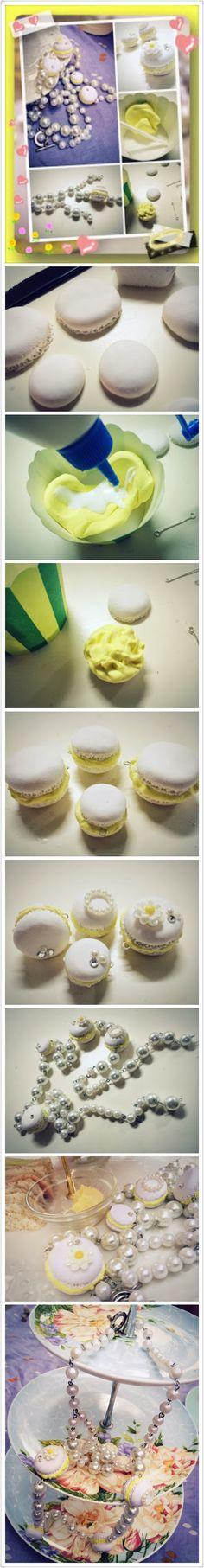 Lemon vanilla macaroon  http://siusally.blogspot.hk/2014/01/salleeejewelry-white-macaroon-with.html?m=1