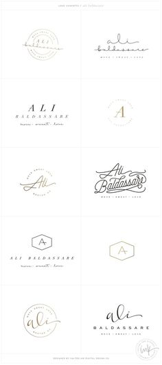 Logo Brand Launch: Ali Baldassare by Salted Ink - Fitness Brand Design - - Brand Stylist Web Design, Design Logo, Website Design, Typography Design, Design Ideas, Logo Inspiration, Fitness Design, Fitness Logo, Fitness Brand