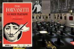Piero-Fornasetti- Si le travail dePiero Fornasettine vous dit rien, c'est normal. Ses travaux n'ont étéredécouverts que très récemmentpar les designers contemporains, tel quePhilippe Starck, et ce, grâce à l'implication de son fils Barnaba Fornasetti, qui poursuit l'œuvre de son père.  Plus de 100 ans après sa naissance,le Musée des Arts Décoratifsconsacre une exposition rétrospective de l'oeuvre de Piero Fornasetti, souhaitantrendre compte de l'ensemble de son art,riche et complexe…
