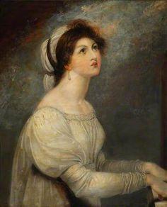 Lady Hamilton as St. Cecilia - Richard Westall paintings Santa Cecilia, Lyon, Hamilton, Royal Academy Of Arts, Maritime Museum, Portraits, Art Uk, Vintage Artwork, Old Master