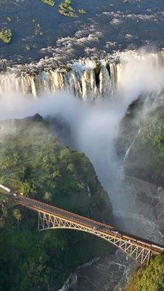 Cataratas de Victoria - en República de Zambia