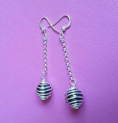 semi precious jewelry / 3mara3: orecchini con pietre semipreziose Ematite