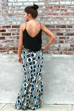 Walking Stick Maxi Skirt $29.99