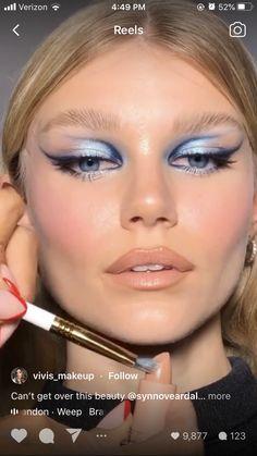 Dope Makeup, Makeup Eye Looks, Glam Makeup, Pretty Makeup, Skin Makeup, Makeup Inspo, Makeup Art, Makeup Inspiration, Unique Makeup